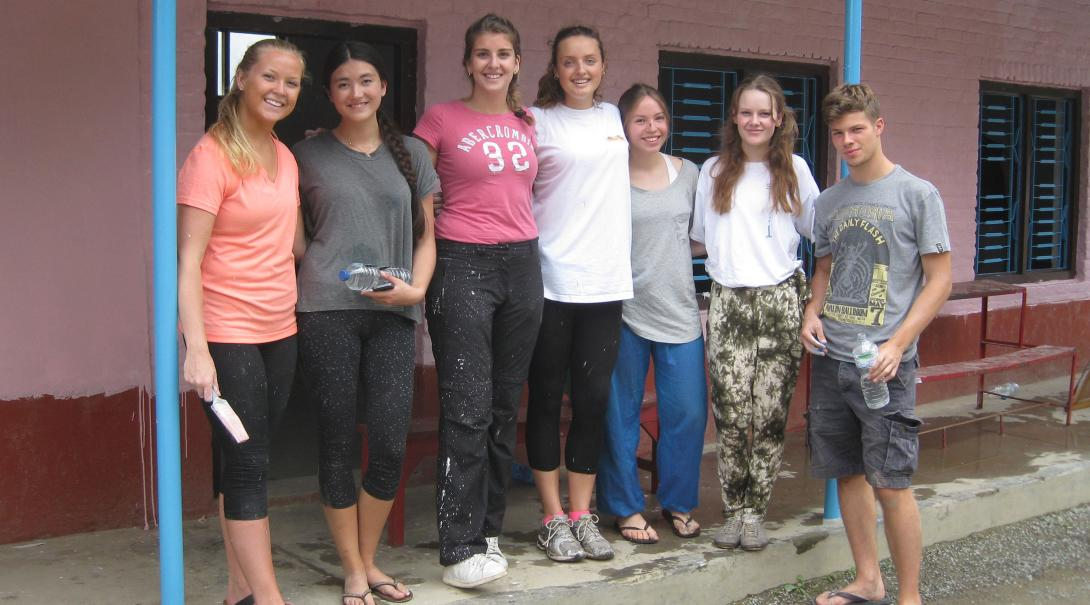 High School Special volunteers enjoying each other's company in Nepal